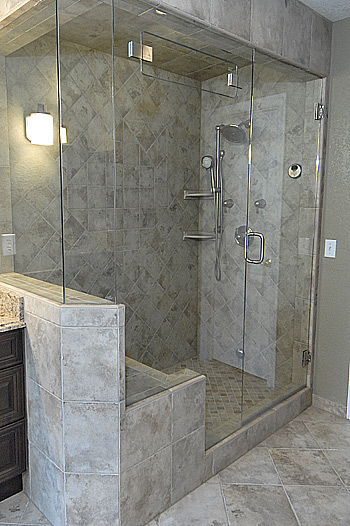 Custom steam shower 3 beautiful baths remodeling made easy beautiful baths remodeling made for Custom showers for small bathrooms