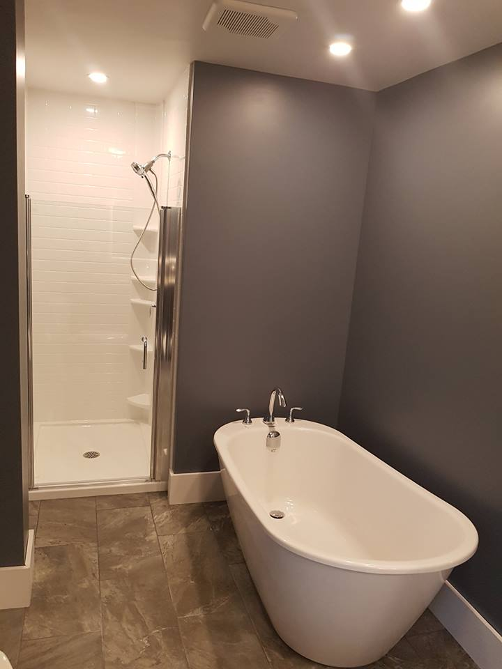 small space shower door